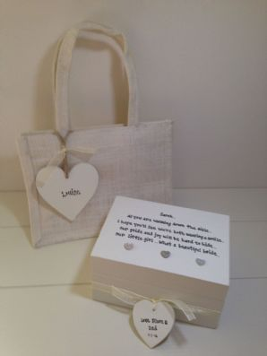 Shabby Personalised Chic Gift For The Bride From Parents Daughters Wedding Day